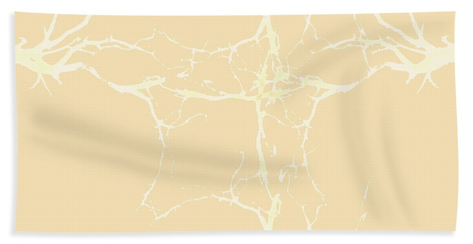Twigs Beach Towel featuring the digital art Twigs Abstract by Ted Guhl
