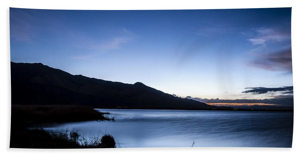 California Beach Towel featuring the photograph Twilight At Klondike Lake by Cat Connor