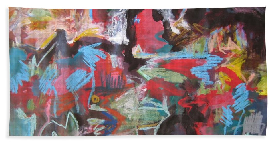 Original Beach Towel featuring the painting Twilight In Ocean by Seon-Jeong Kim