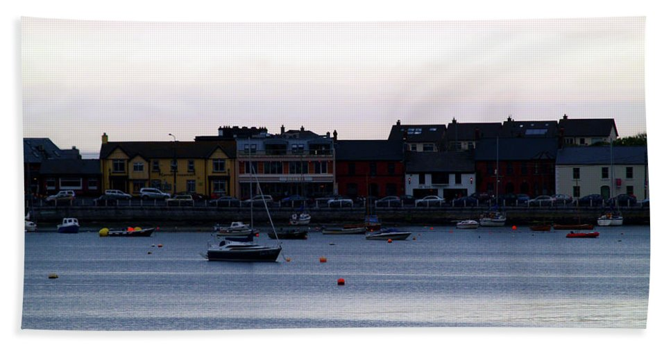 Skerries Beach Towel featuring the photograph Twilight In The Harbor At Skerries by Patricia Griffin Brett