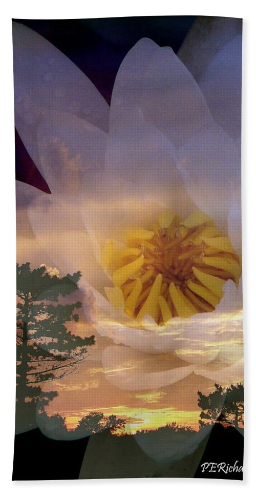 Panpicx Beach Towel featuring the photograph Twilight Lily by Priscilla Richardson