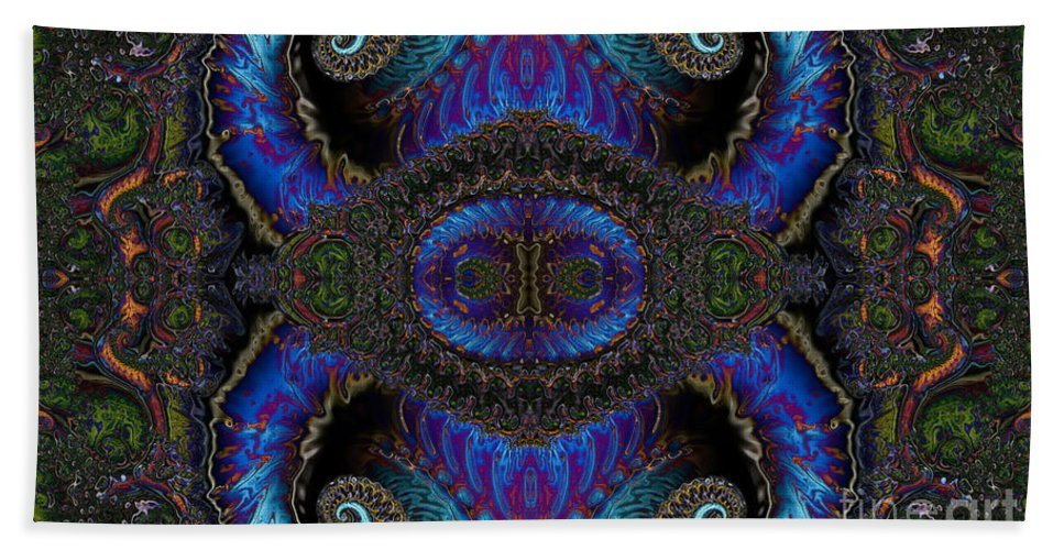 Clay Beach Towel featuring the digital art Twin Quad by Clayton Bruster