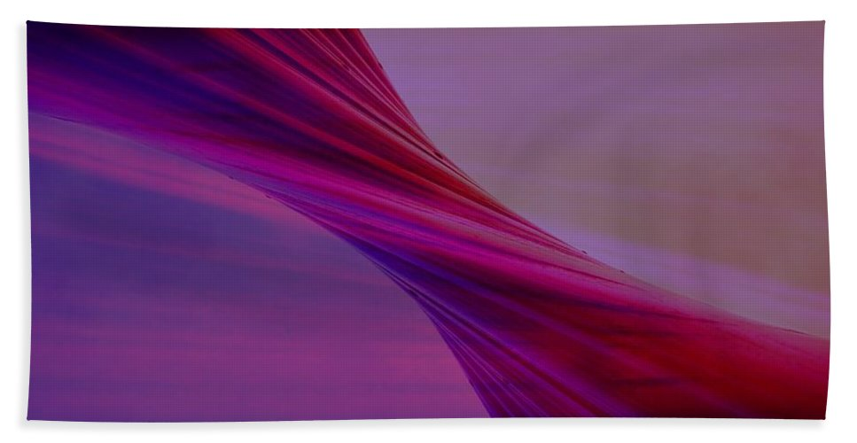 Twist Beach Towel featuring the digital art Twist by Tim Allen
