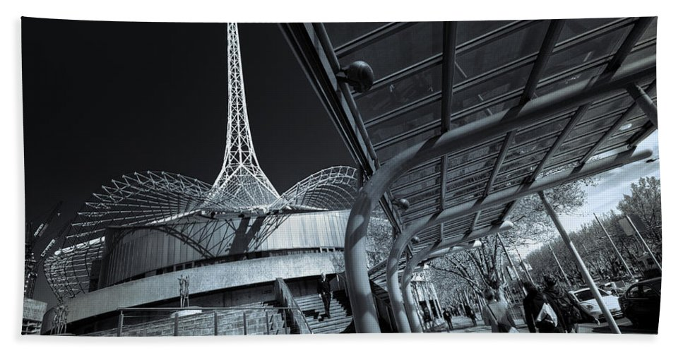 Architecture Beach Towel featuring the photograph Twister by Wayne Sherriff
