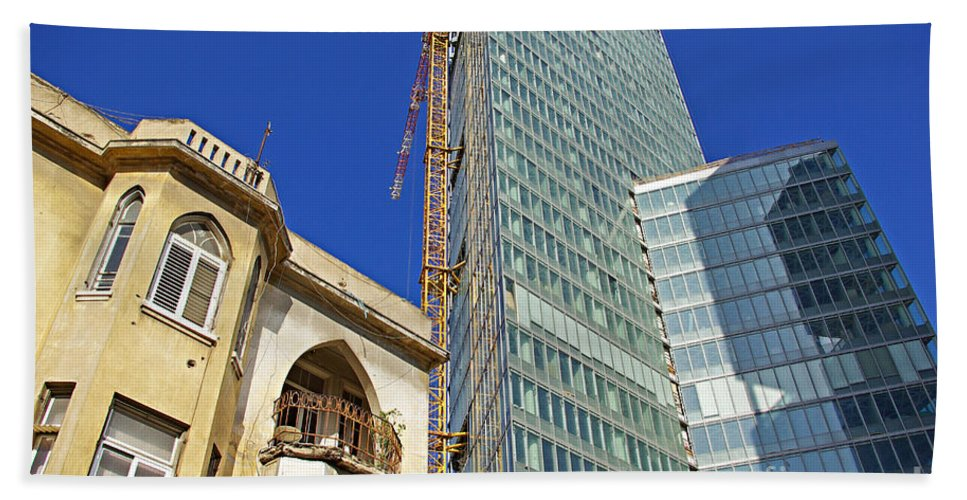 Building Beach Towel featuring the photograph Two Buildings.. by Zal Latzkovich