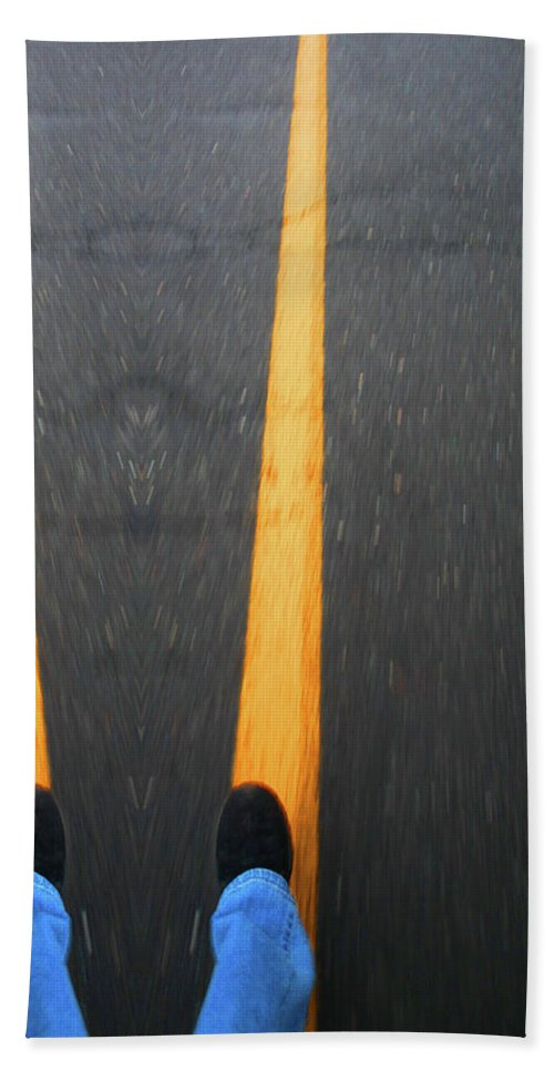 Road Beach Towel featuring the photograph Two For The Road by Karol Livote