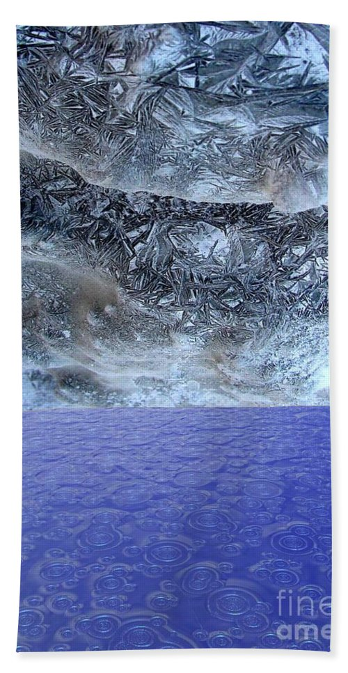 Photo Montage Beach Towel featuring the mixed media Two States by Ron Bissett