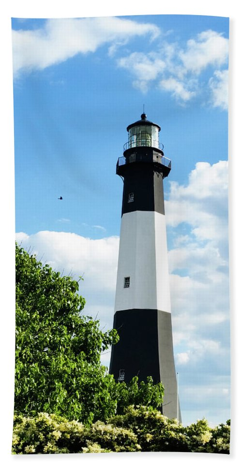 Beach Towel featuring the photograph Tybee Light by Belinda Jane