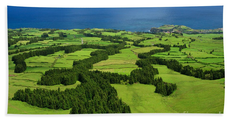 Landscape Beach Towel featuring the photograph Typical Azores Islands Landscape by Gaspar Avila