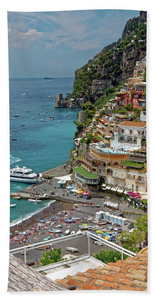 Coastal Scene Beach Towel featuring the photograph Tyrrhenian Sea Amalfi Coast by Sally Weigand