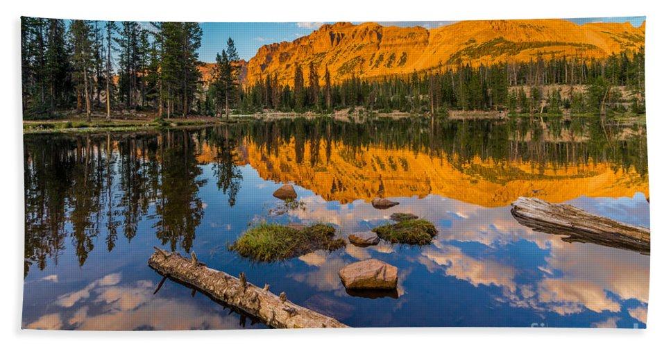 Uinta Mountains Sunset Hayden Peak Butterfly Lake Utah Beach Towel For Sale By Gary Whitton