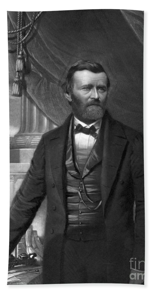 History Beach Towel featuring the photograph Ulysses S. Grant, 18th American by Photo Researchers