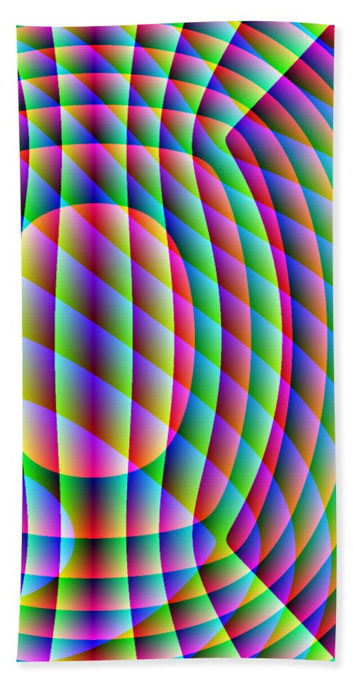 Electronic Beach Towel featuring the digital art Uncollared Colors Three by Joel Kahn