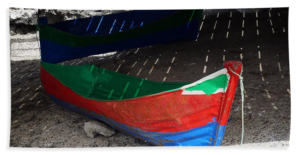 Boat Beach Towel featuring the photograph Under The Boardwalk by Charles Stuart
