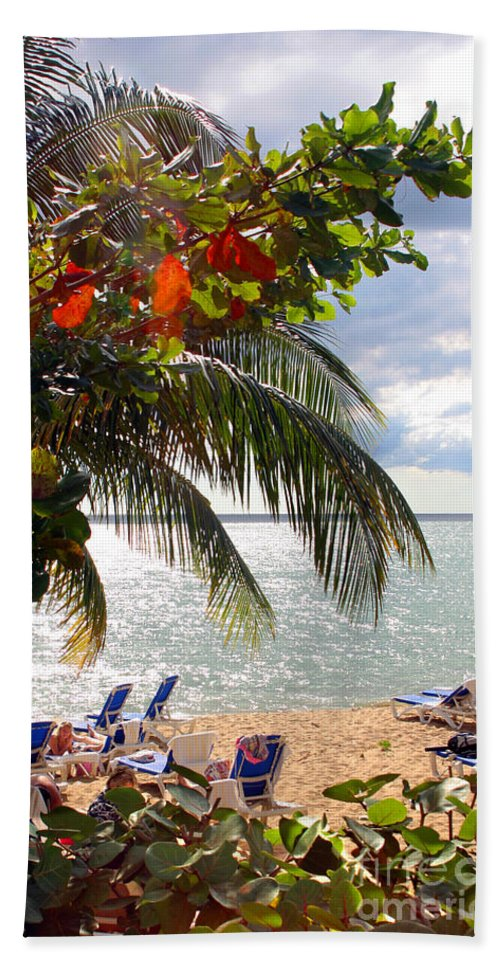 Palm Beach Towel featuring the photograph Under The Palms In Puerto Rico by Madeline Ellis