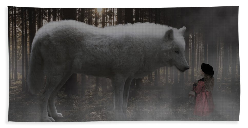 Surreal Art Beach Towel featuring the digital art Unexpected Ally by Barroa Artworks