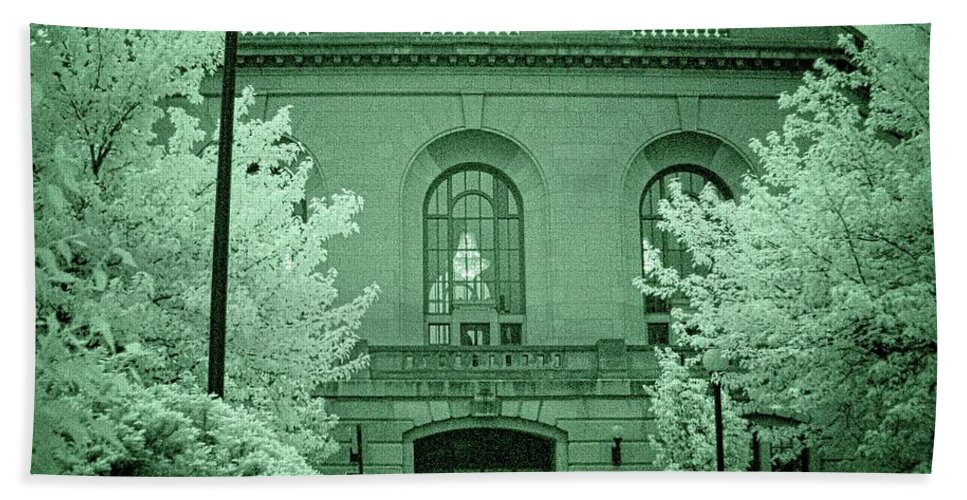 Joliet Beach Towel featuring the photograph Union Station 2, Joliet, Illinois by Fred Hahn