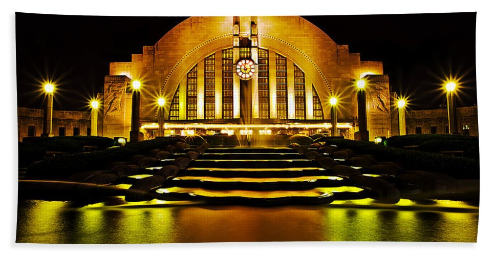 Union Terminal Beach Towel featuring the photograph Union Terminal by Keith Allen