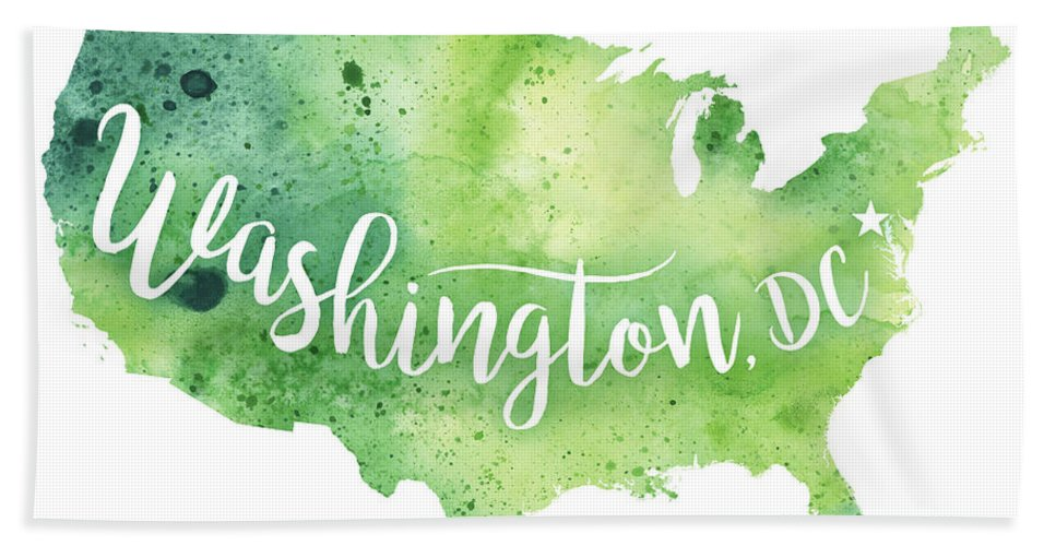 United States Of America Watercolor Map - Washington, D C Hand ...