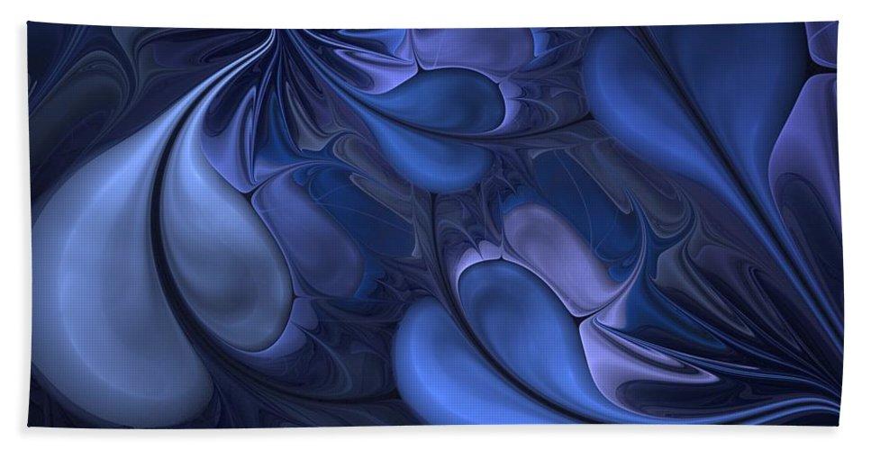 Digital Painting Beach Towel featuring the digital art Untitled 01-26-10 Blues by David Lane