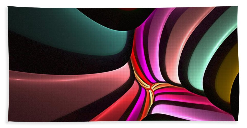 Digital Painting Beach Towel featuring the digital art Untitled 02-26-10-a by David Lane