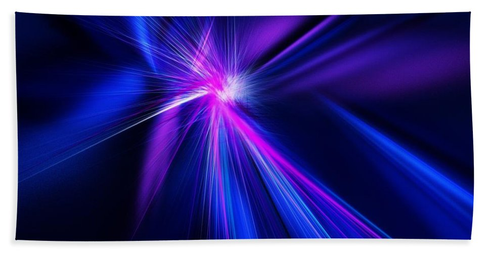 Abstract Digital Painting Beach Towel featuring the digital art Untitled 11-18-09 by David Lane