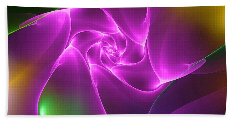 Digital Painting Beach Towel featuring the digital art Untitled 4-06-10 by David Lane