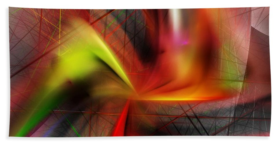 Digital Painting Beach Towel featuring the digital art Untitled 5-3-10-a by David Lane