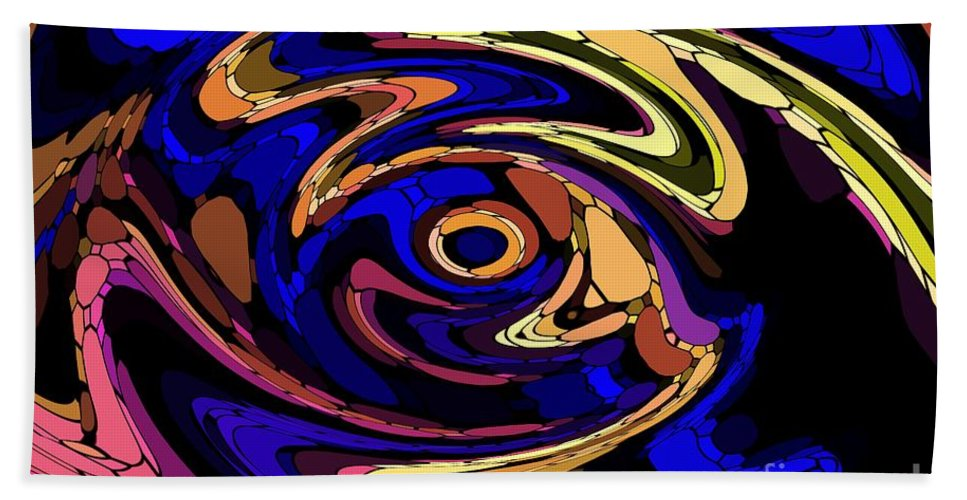Abstract Beach Sheet featuring the digital art Untitled 7-04-09 by David Lane