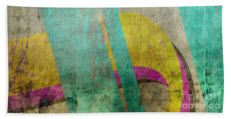 Abstract Beach Towel featuring the painting Untitled Abstract by Edward Fielding