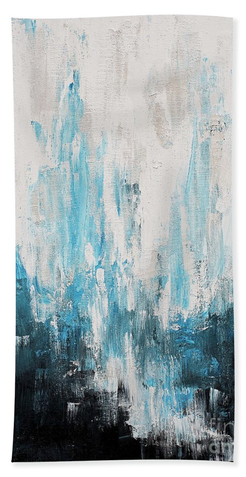 Abstract Beach Towel featuring the painting Untitled by Angelina Cornidez