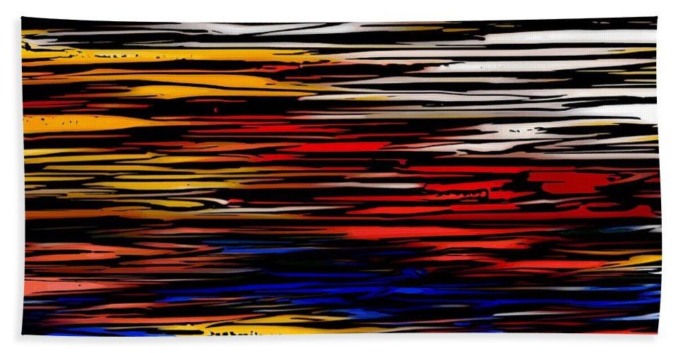 Abstract Digital Painting Beach Towel featuring the digital art Untitled2 9-12-09 by David Lane