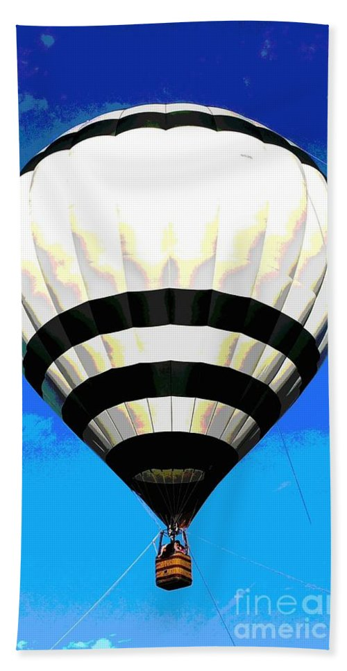 Balloon Beach Towel featuring the photograph Up, Up And Away... by Christine Chepeleff