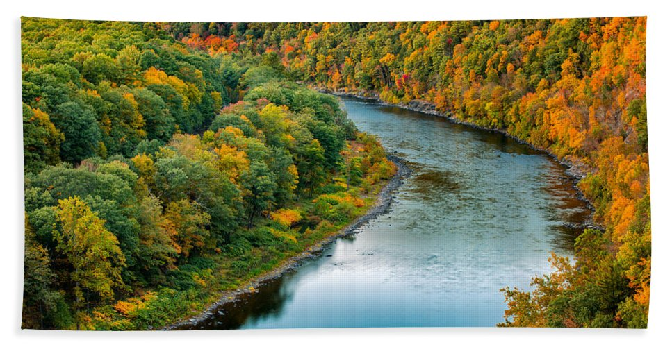 Hawks Nest Beach Towel featuring the photograph Upper Delaware River by Mihai Andritoiu