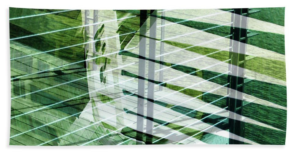 City Beach Towel featuring the photograph Urban Abstract 250 by Don Zawadiwsky