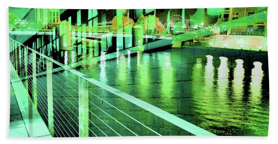 City Beach Towel featuring the photograph Urban Abstract 339 by Don Zawadiwsky