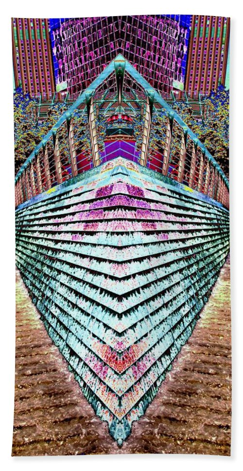 Seattle Beach Towel featuring the digital art Urban Confluence by Tim Allen