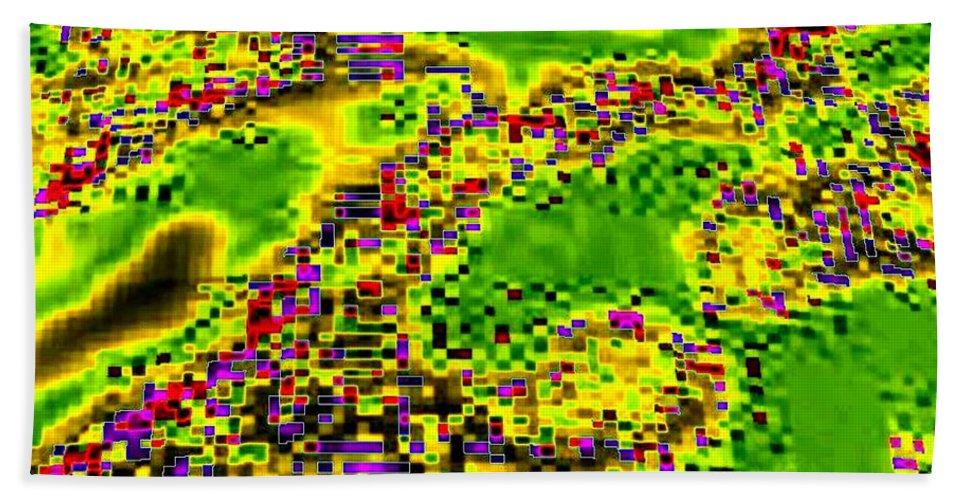 Urban Sprawl Beach Towel featuring the digital art Urban Sprawl by Will Borden