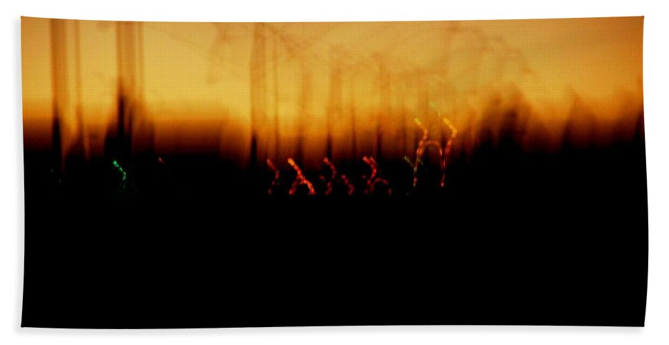 Sunset Beach Sheet featuring the photograph Urban Vibrations by M Pace