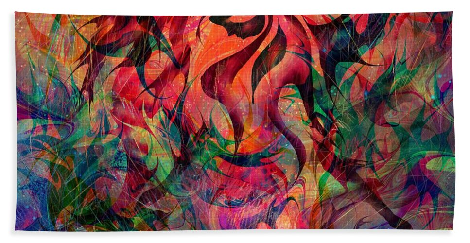 Fantasy Beach Towel featuring the painting Urn of the Fire by William Russell Nowicki