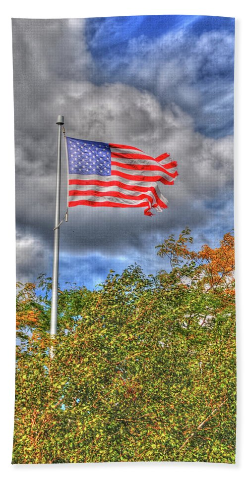 Flags Beach Towel featuring the photograph Us Flag 8091 by Guy Whiteley