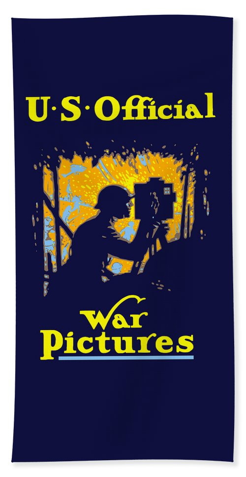 Ww1 Beach Towel featuring the painting U.s. Official War Pictures by War Is Hell Store