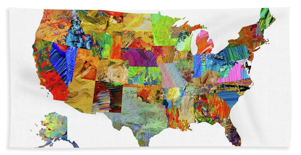 Usa Map 10 Beach Sheet For Sale By Usa Map