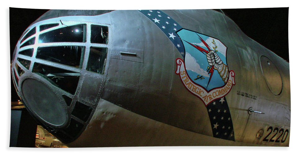 Usaf Museum Beach Towel featuring the photograph Usaf Museum B-36 Cold War by Tommy Anderson