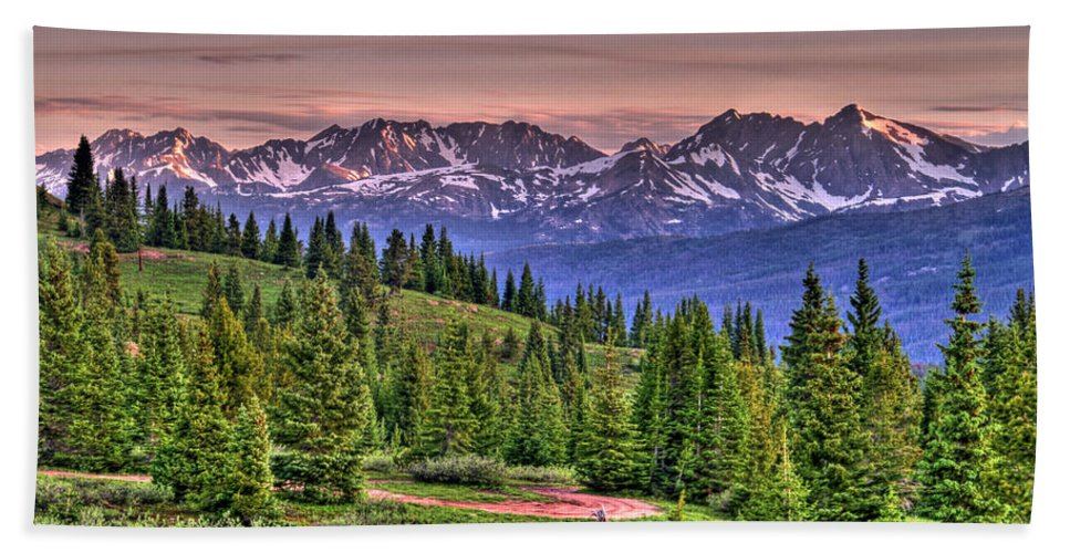 Colorado Beach Towel featuring the photograph Vail View by Scott Mahon
