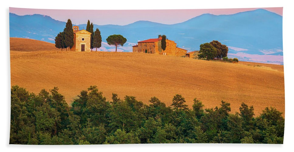Europe Beach Towel featuring the photograph Val D'orcia Serenity by Inge Johnsson