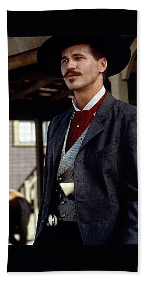 3d35b7b9755 Val Kilmer As Doc Holliday Tombstone Set Beach Towel featuring the  photograph Val Kilmer As Doc