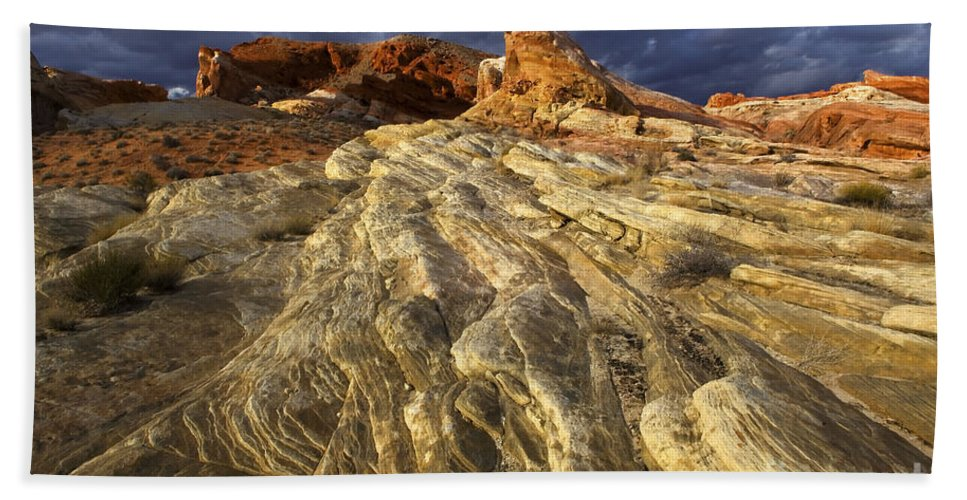 Enchanted Beach Towel featuring the photograph Valley Of Fire 1 by Bob Christopher
