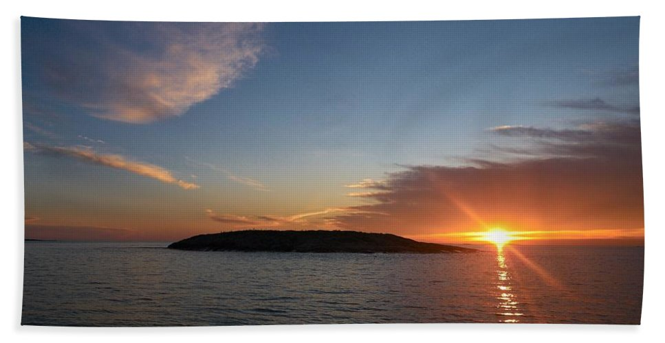 Lehtokukka Beach Towel featuring the photograph Variations Of Sunsets At Gulf Of Bothnia 2 by Jouko Lehto
