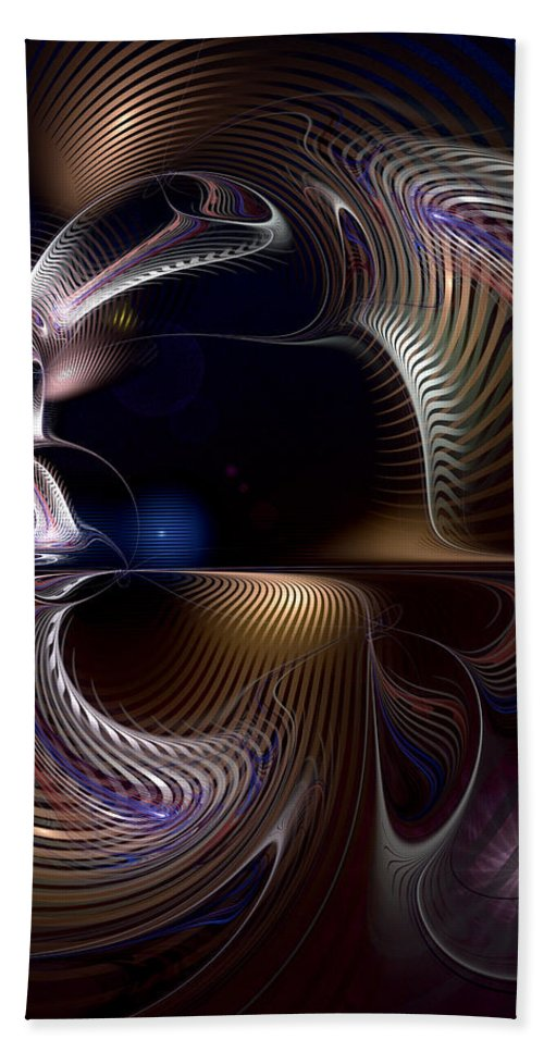 Abstract Beach Towel featuring the digital art Variations On Varese by Casey Kotas